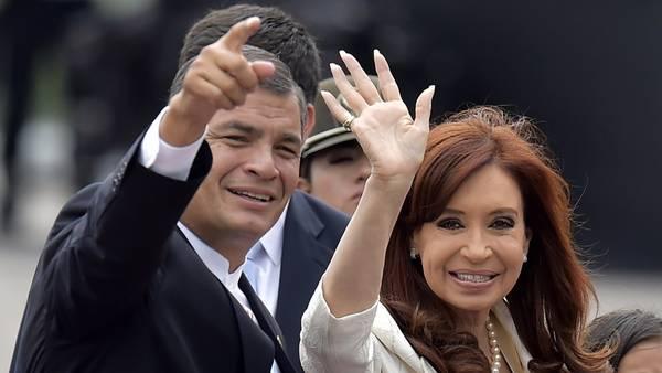 Cristina con Correa, en diciembre de 2014. Foto AFP