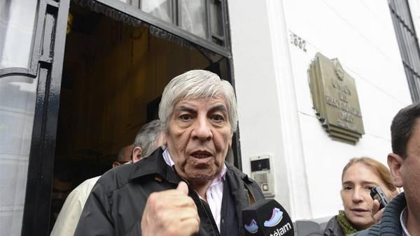 Hugo Moyano será el orador de fondo en el acto de protesta de esta tarde frente el Monumento al Trabajo.