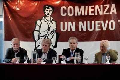 """Laudatistas. Politicos empresarios y sindicalistas se reunieron y presentan el documento """"El Modelo Argentino y la Laudato Si"""". (Maxi Failla)"""