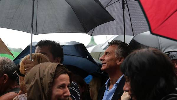 Marcha del silencio. Mauricio Macri asistió a un mes de la muerte de Nisman, en febrero de 2015