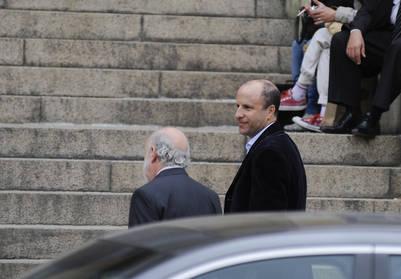 El camarista Mariano Borinsky ingresa a los Tribunales de Comodoro Py. /Foto Pedro Lazaro Fernandez