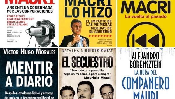 Los libros sobre Mauricio Macri.