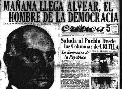 Tapa del diario Crítica del 12/12/36 | Biblioteca Nacional - Hemeroteca