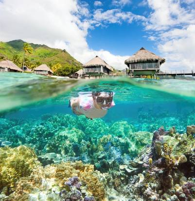 Bora Bora, en la Polinesia Francesa (Getty Images)