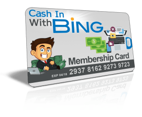 Cash In With Bing - Membership Site