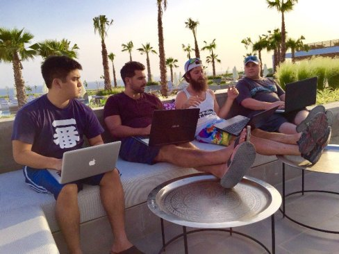 Internet Millionaire John Crestani and his crew at a team retreat in Morocco.
