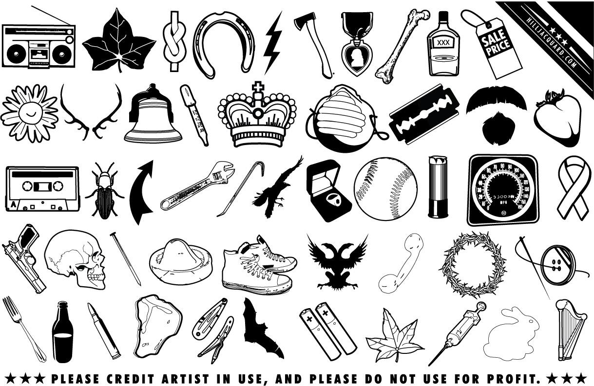 Iconos De Chatarra Al Azar Y Efimero Inutil Imagenes
