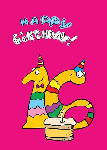 Geburtstag 16 Geburtstag Alles Gute Zum Geburtstag Schriftart