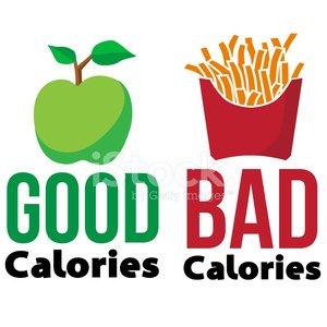 good vs bad calories