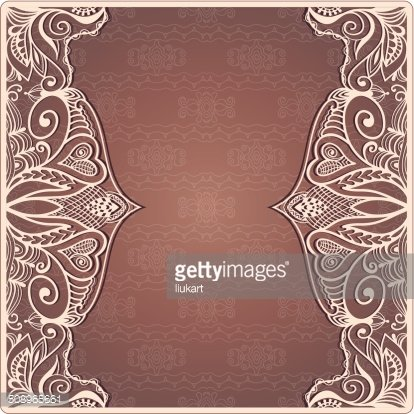 abstract background lacy frame border