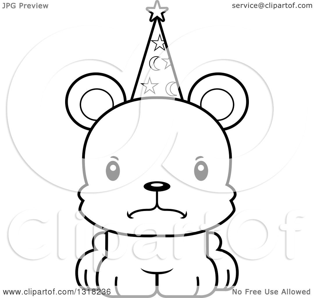 Animal Lineart Clipart Of A Cartoon Black And White Cute