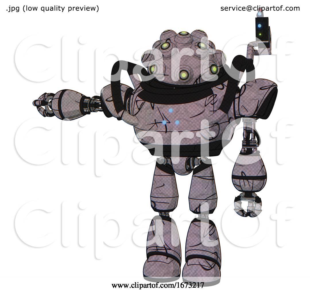 Automaton Containing Techno Multi Eyed Domehead Design And