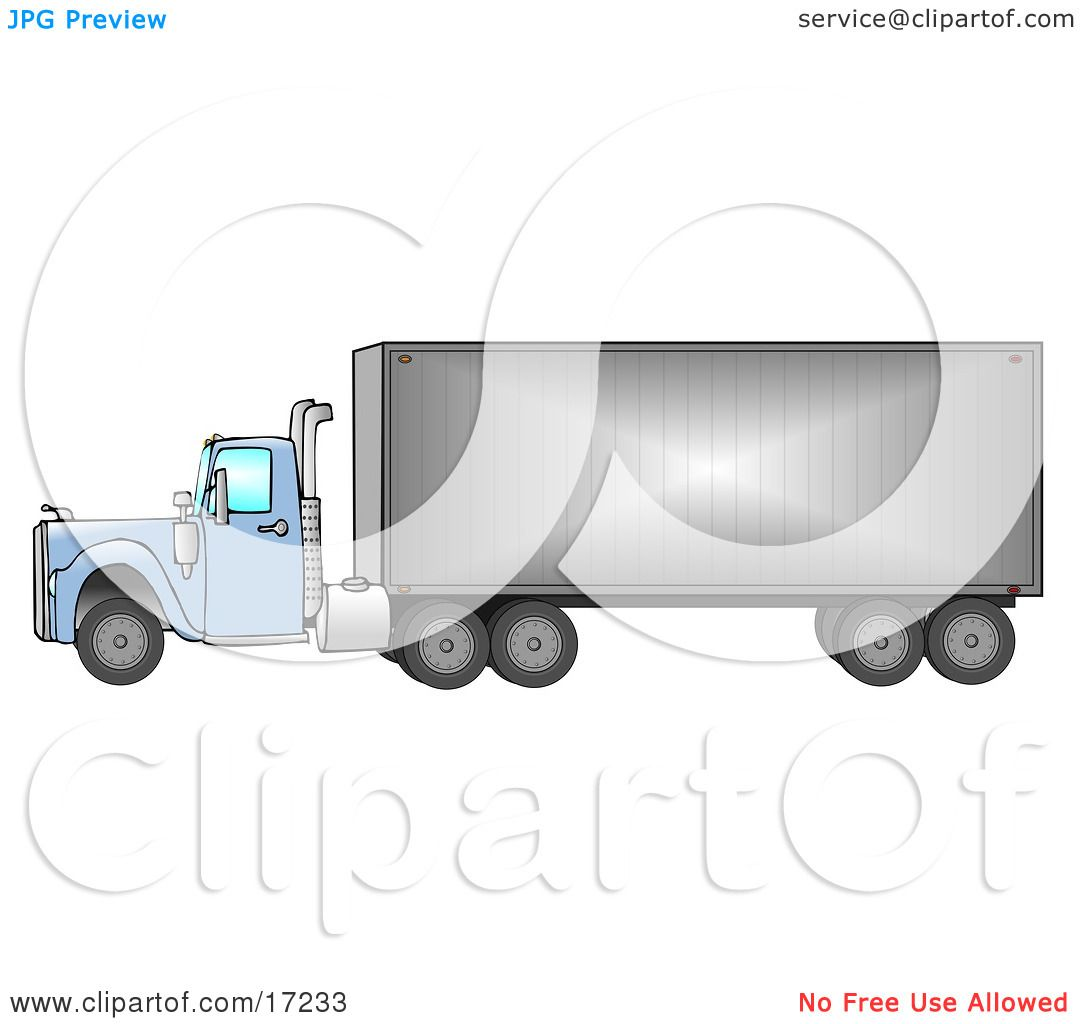 wheeler semi driving down the road from right to left clip art