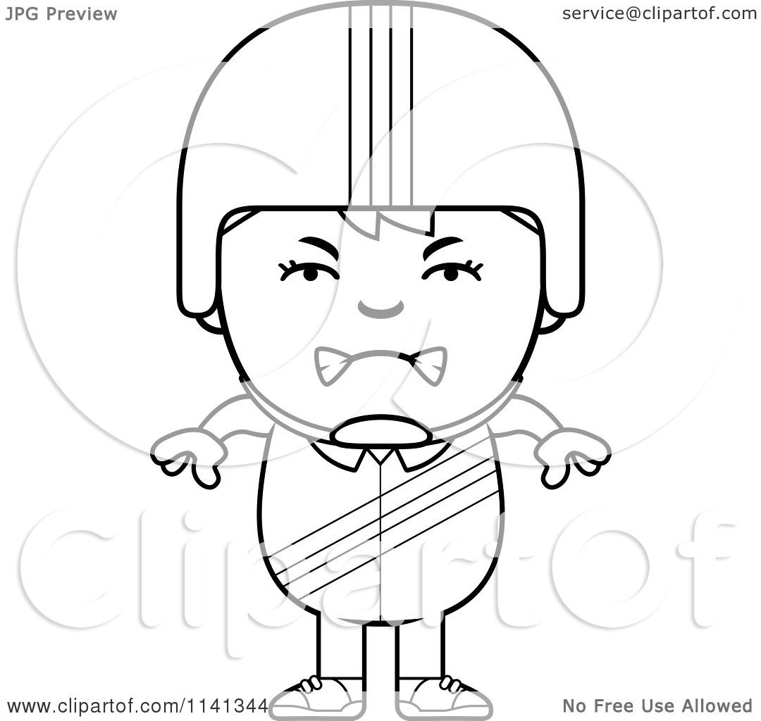 cartoon clipart of a black and white angry daredevil stunt boy
