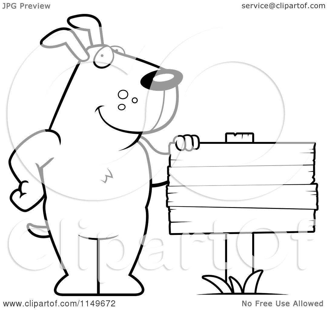 wood dog signs