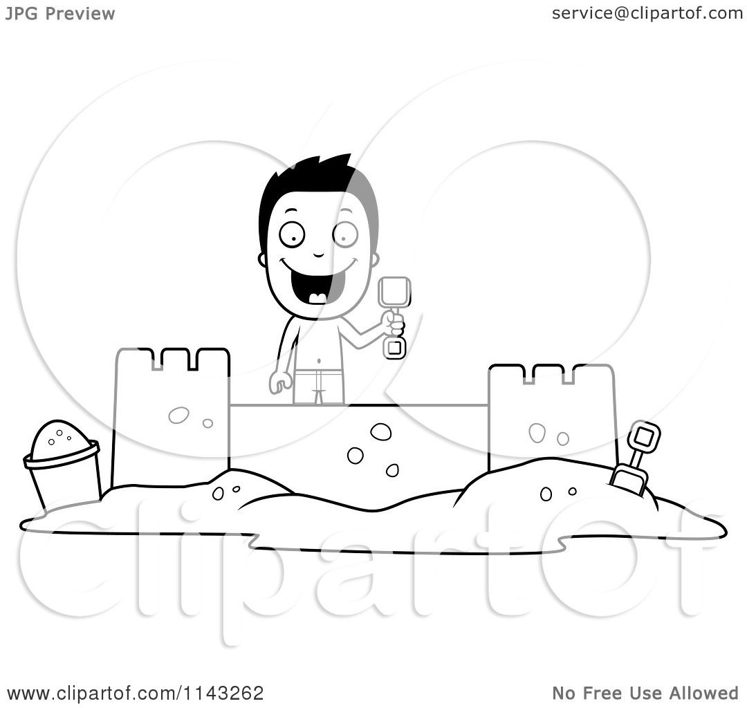 hello kitty building a sand castle coloring page hello kitty