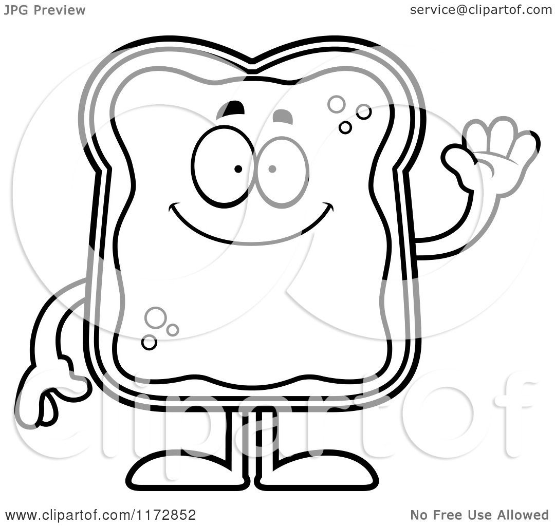 Toast Coloring Template Coloring Pages