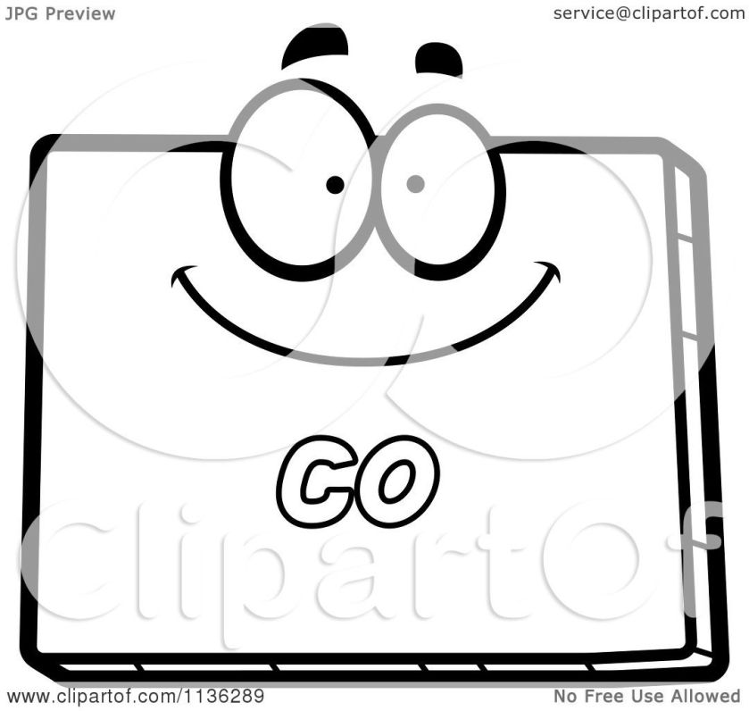 cartoon clipart of an outlined happy colorado state