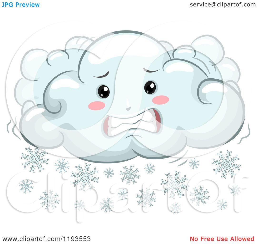 cartoon of a cold shivering mascot royalty free vector