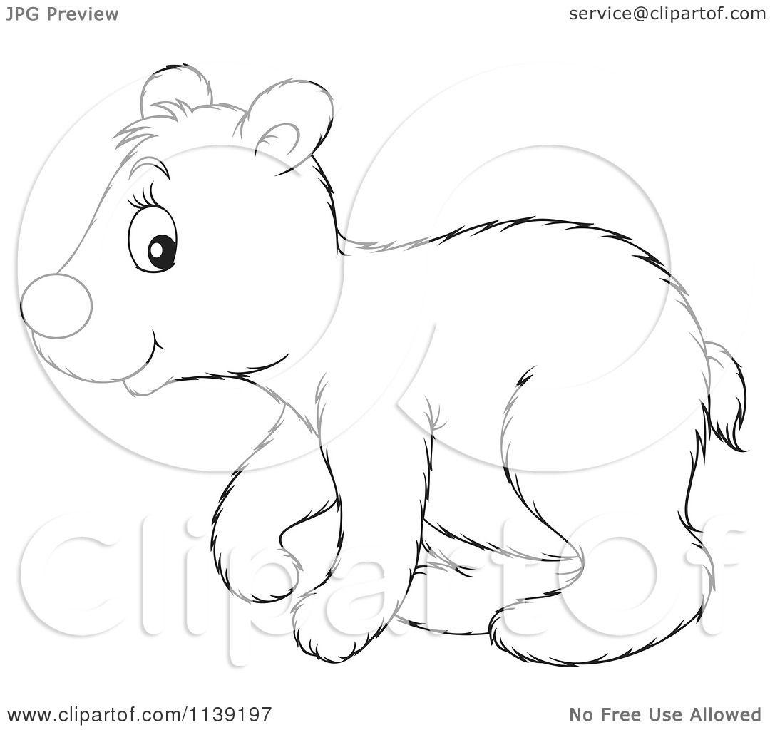 Polar Bear Cartoon Black And White