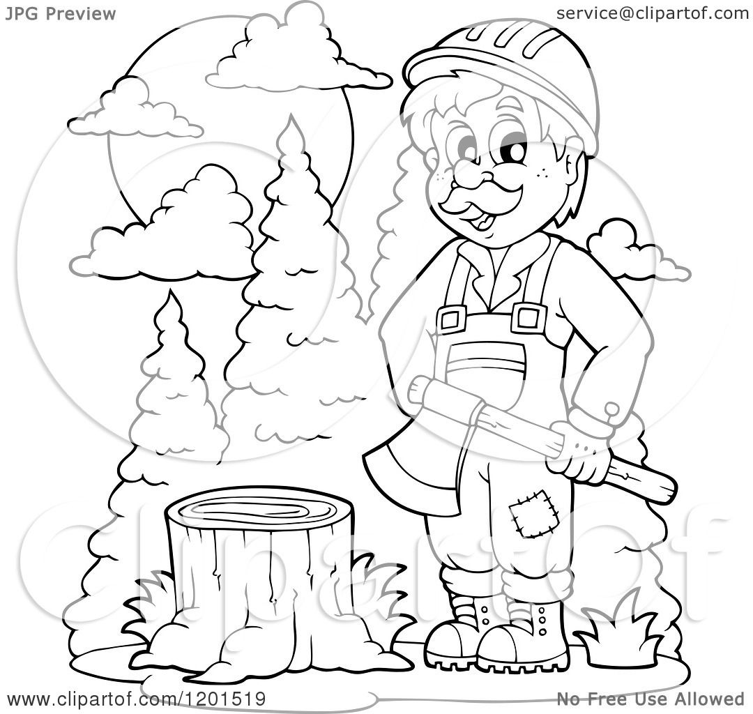 Lumberjack Coloring Pages Coloring Pages