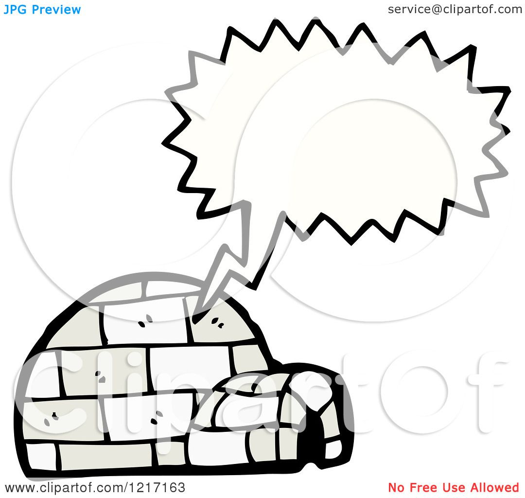 Cartoon Of A Speaking Igloo