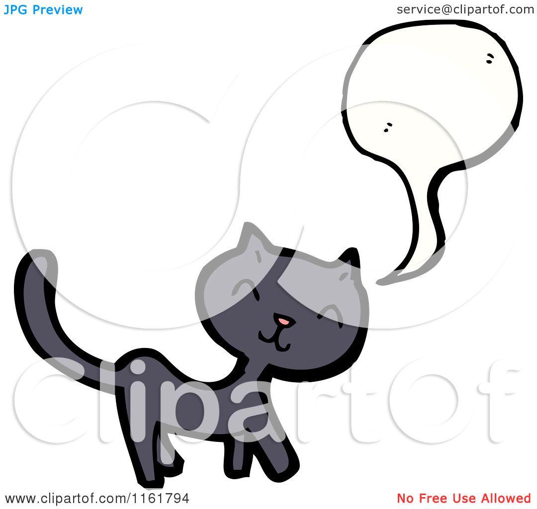 Cartoon Of A Talking Cat