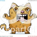 Clipart Angry Ugly Cat Royalty Free Vector Illustration By Cory Thoman 1103389