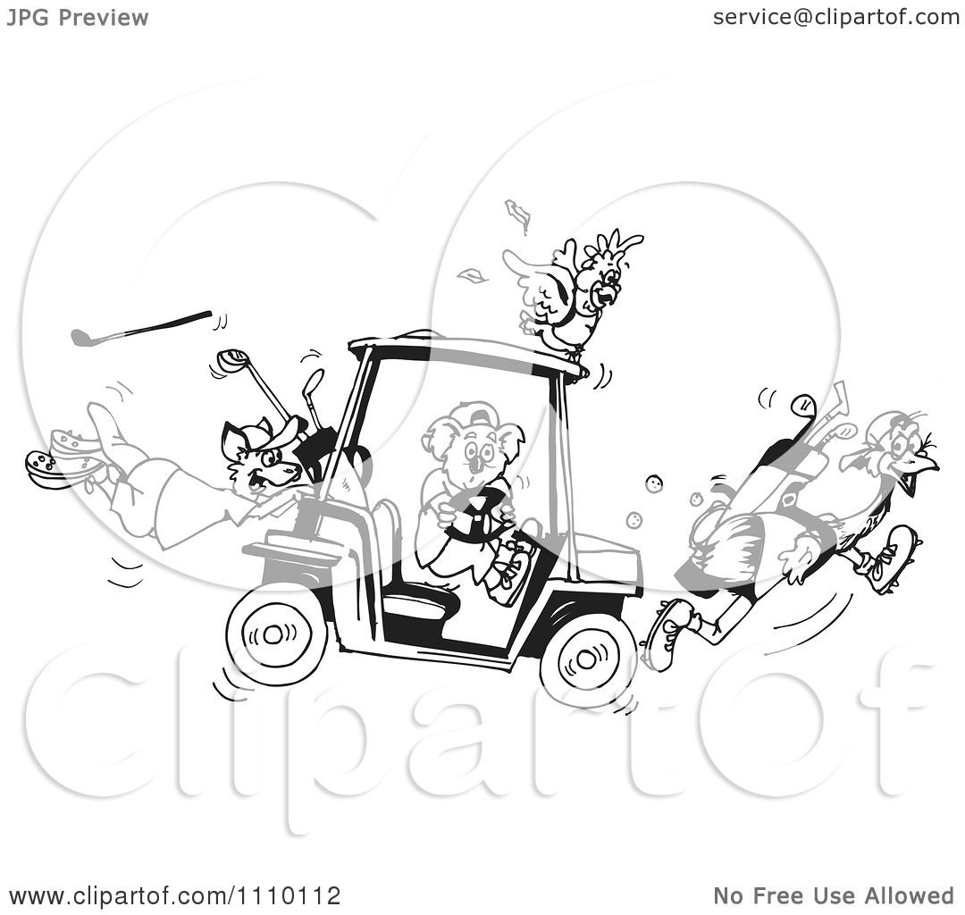 Clipart Black And White Aussie Koala Cockatoo Kangaroo And