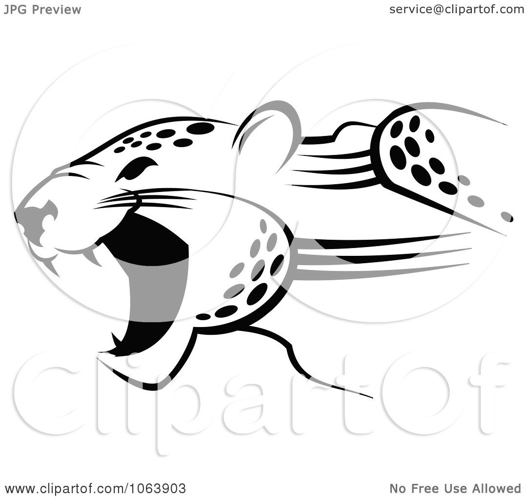 Clipart Black And White Jaguaring