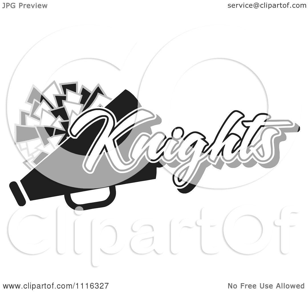 Clipart Black And White Knights Cheerleader Design