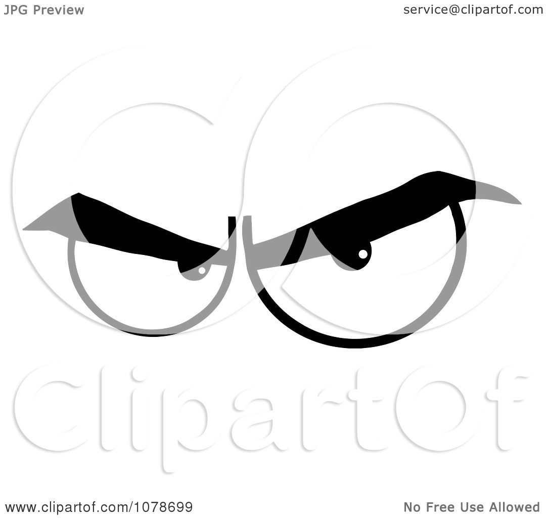 Clipart Black And White Pair Of Evil Eyes
