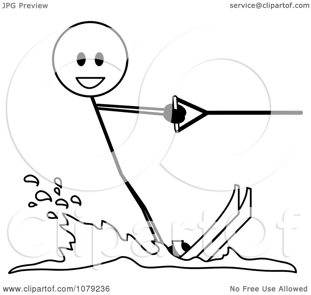 clipart skiing