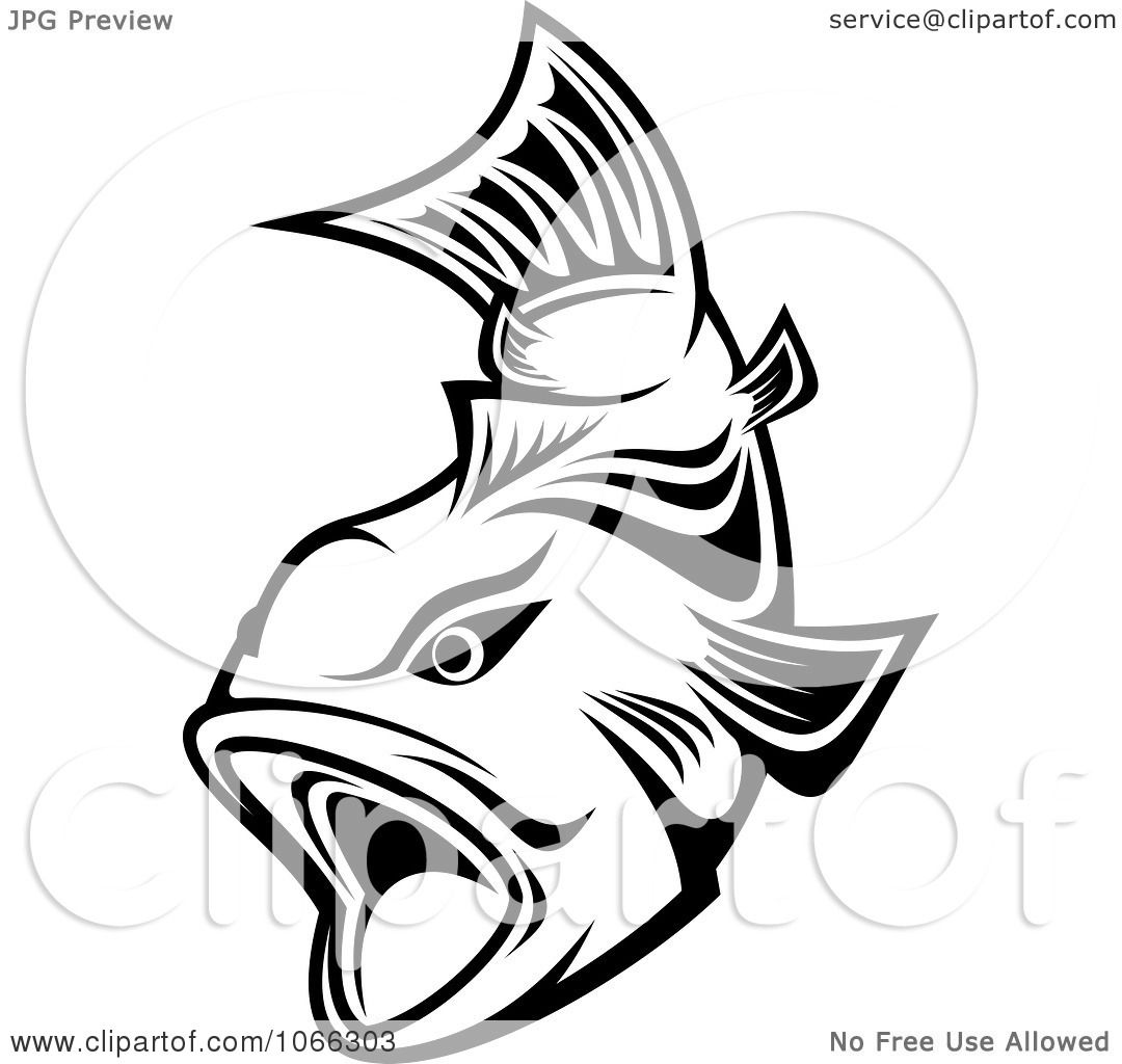 Clipart Black And White Trout 2