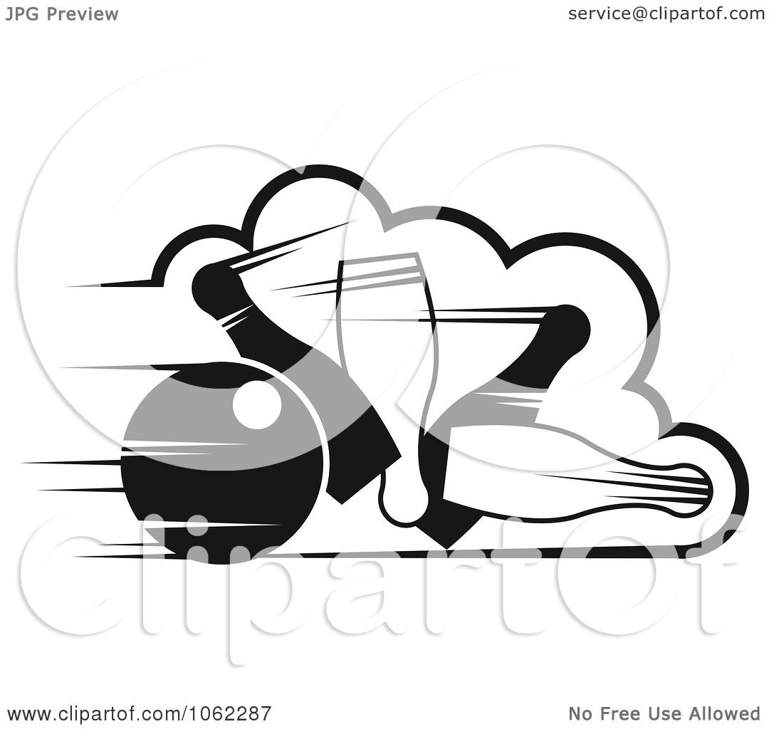Clipart Bowling Ball And Pins In Black And White 1