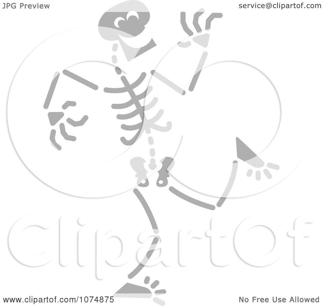 Clipart Gray Skeleton Laughing