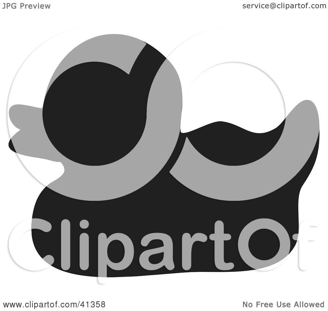 Clipart Illustration Of A Black Silhouette Of A Rubber