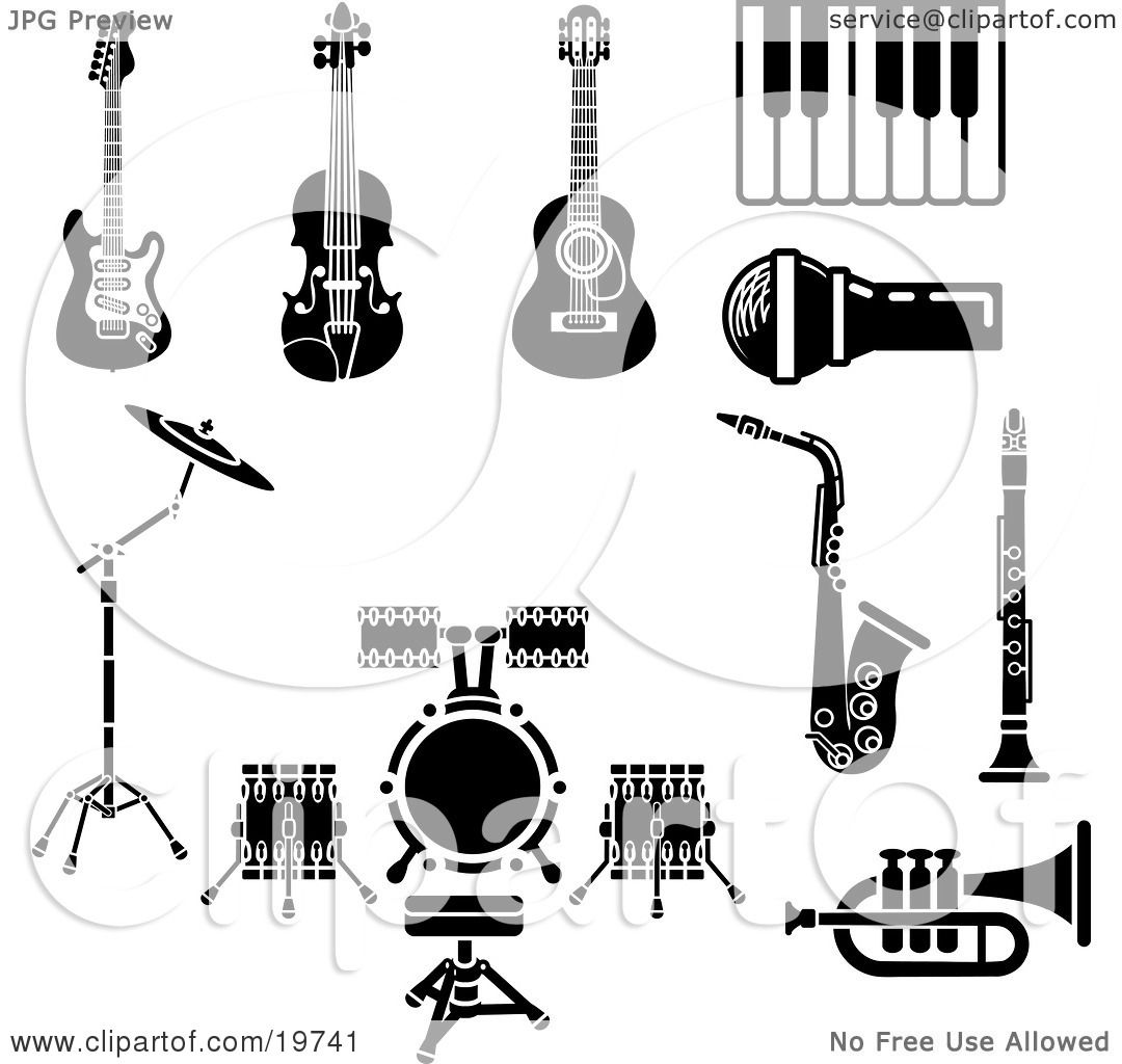 Clipart Illustration Of A Collection Of Musical