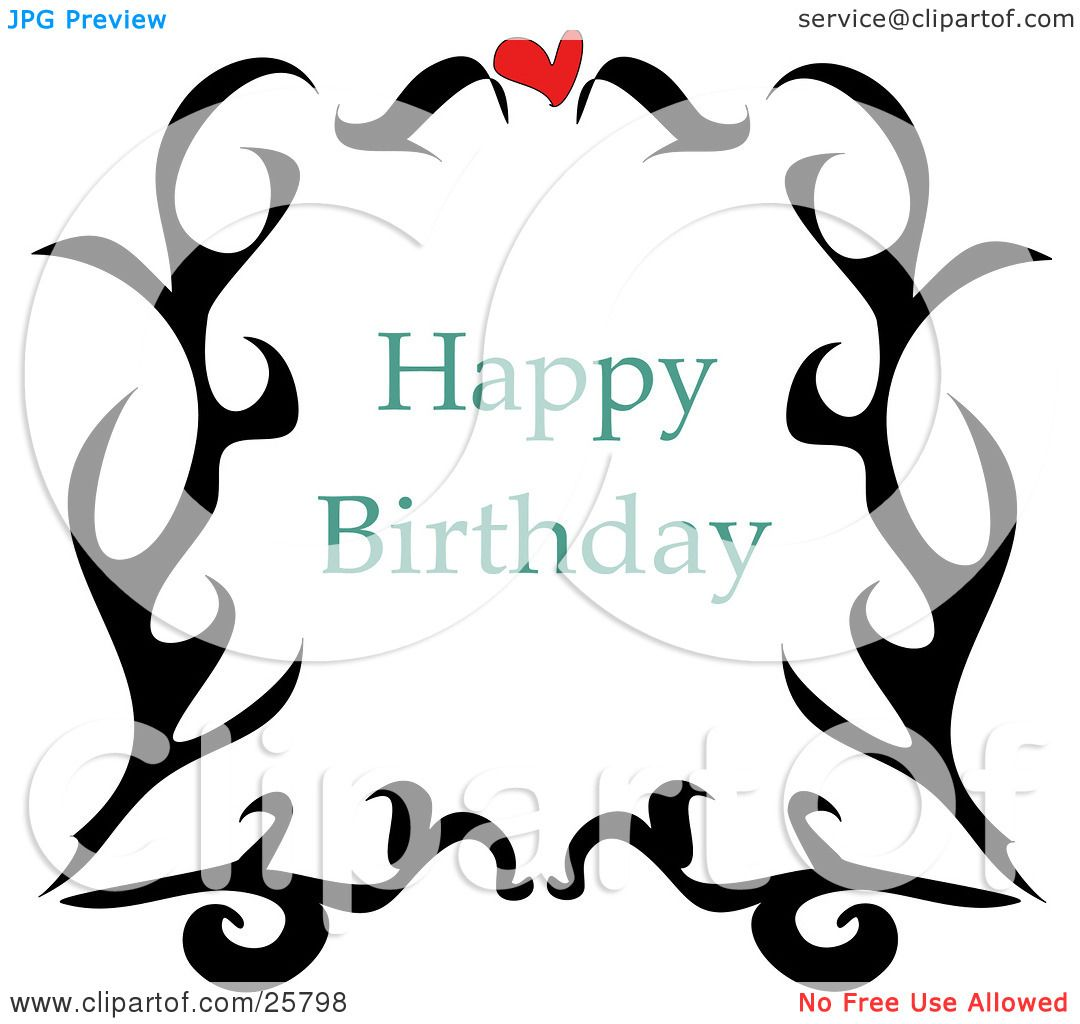 Clipart Illustration Of A Happy Birthday Greeting With A