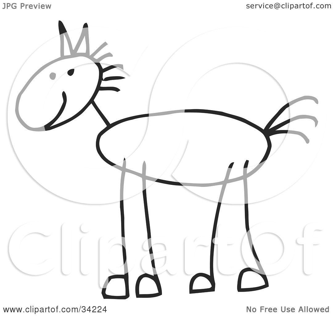 Stick Person Horse
