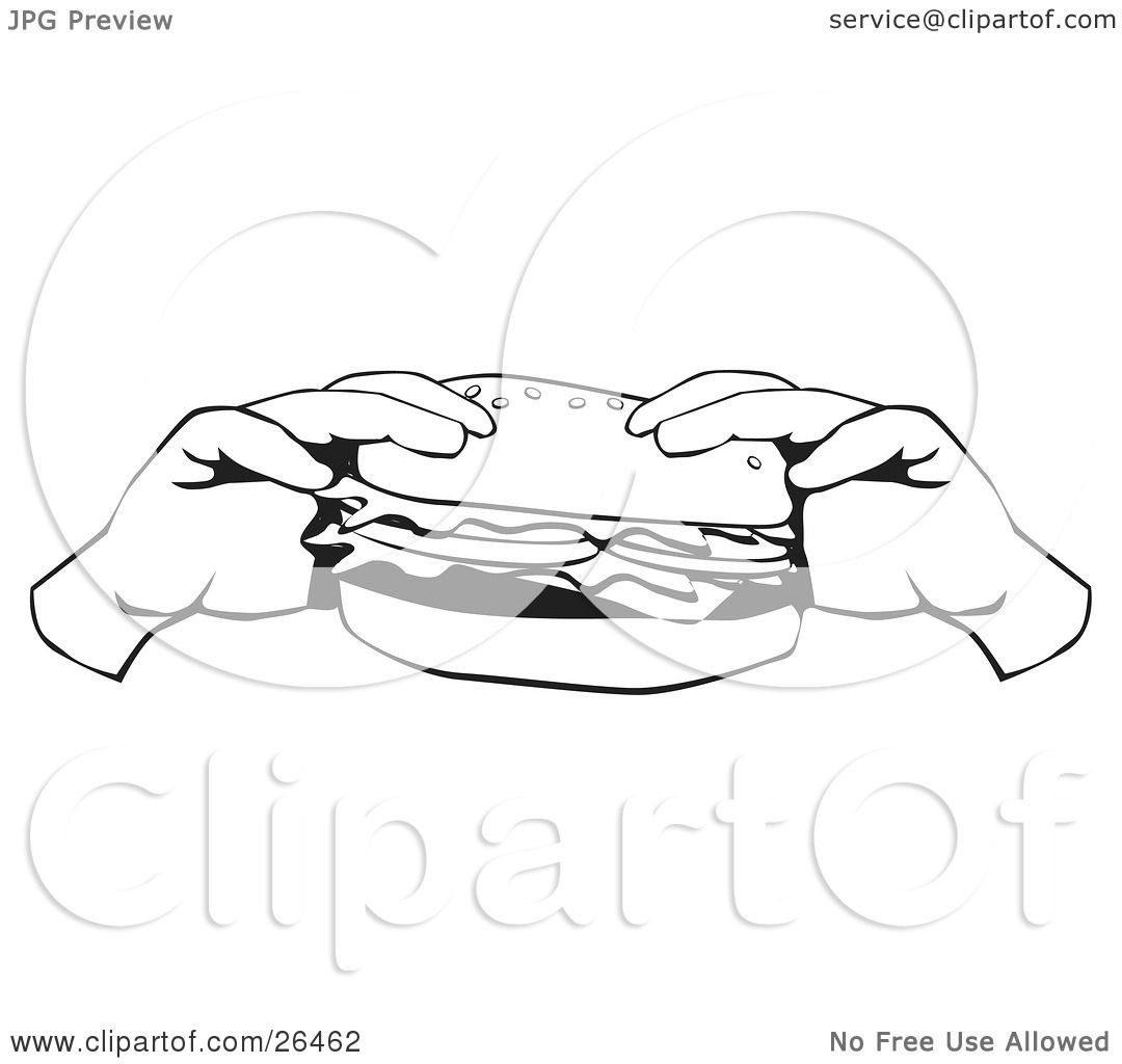 Clipart Illustration Of A Pair Of Hands Holding A Fast