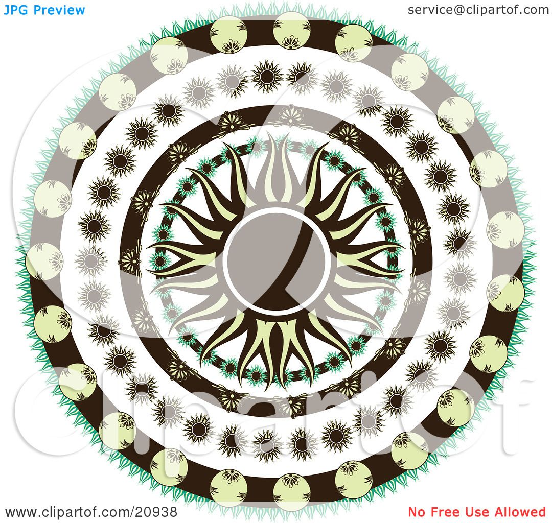 Clipart Illustration Of A Retro Black And Yellow Sun In