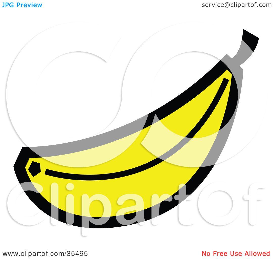 banana clipart clipart illustration of a ripe
