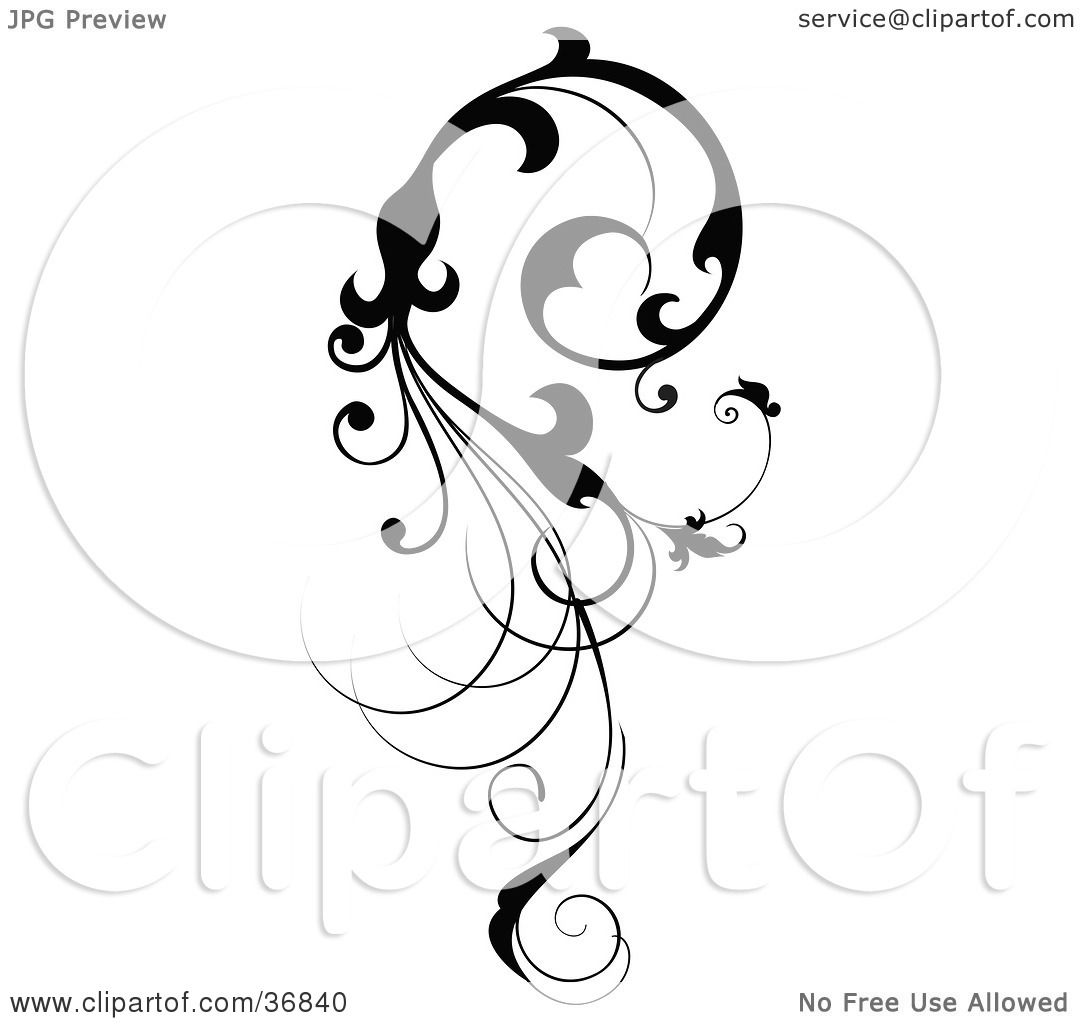 Clipart Illustration Of A Vertical Black Silhouetted