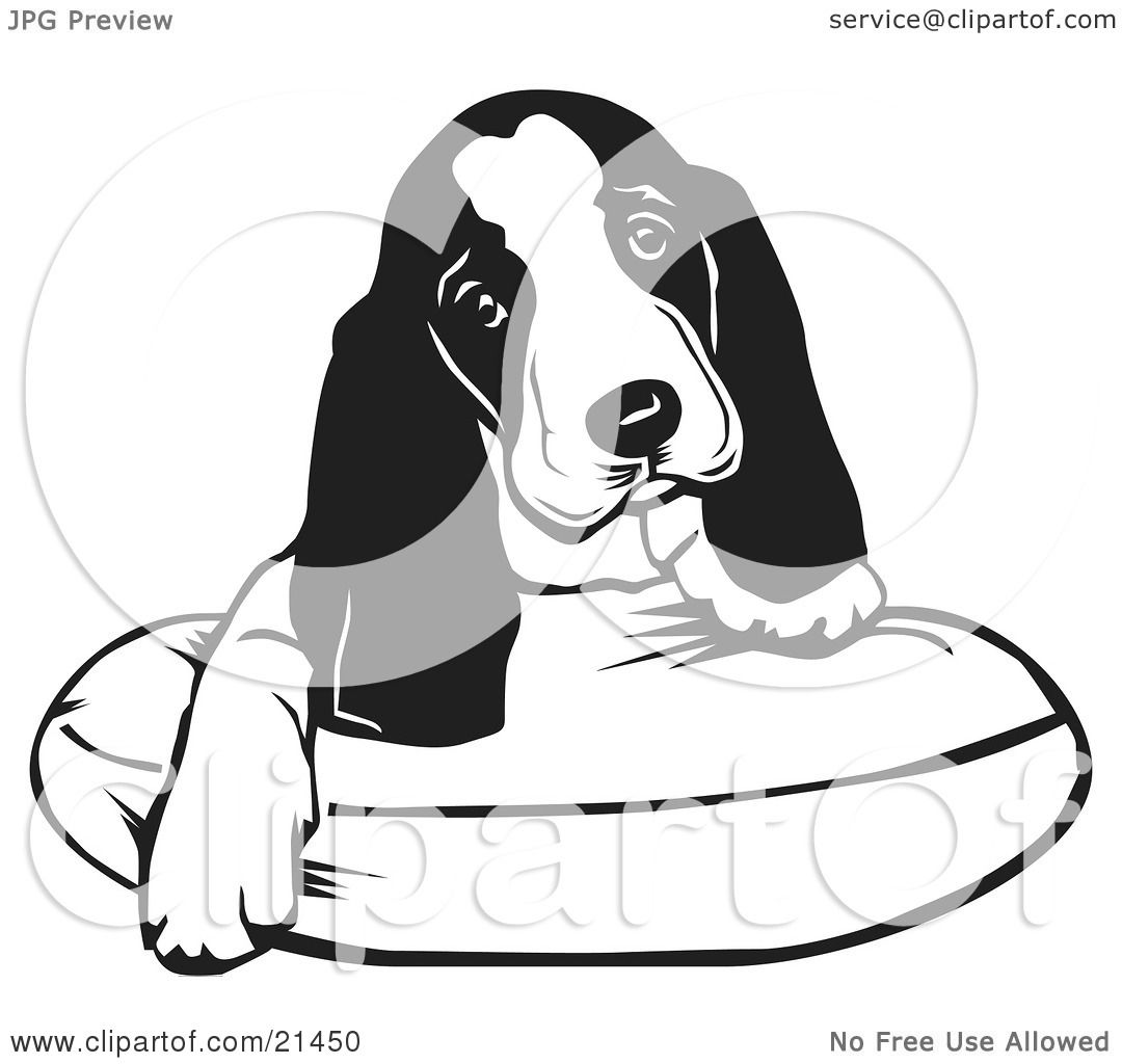 Clipart Illustration Of An Adorable Basset Hound Puppy Dog