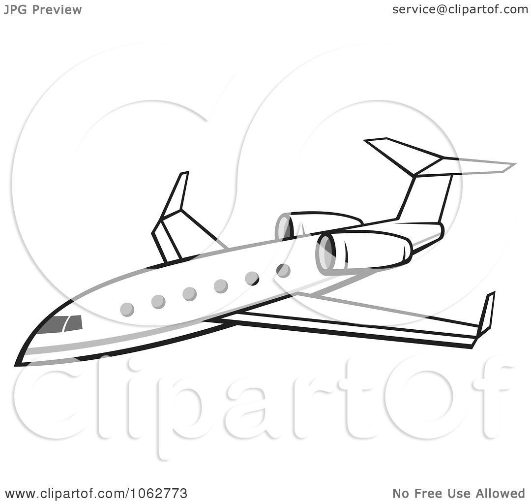 clipart jumbo jet royalty free vector illustration by any vector