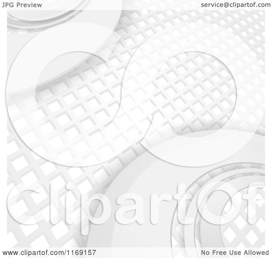 Clipart Of A 3d White Mosaic Grid And Curve Pattern