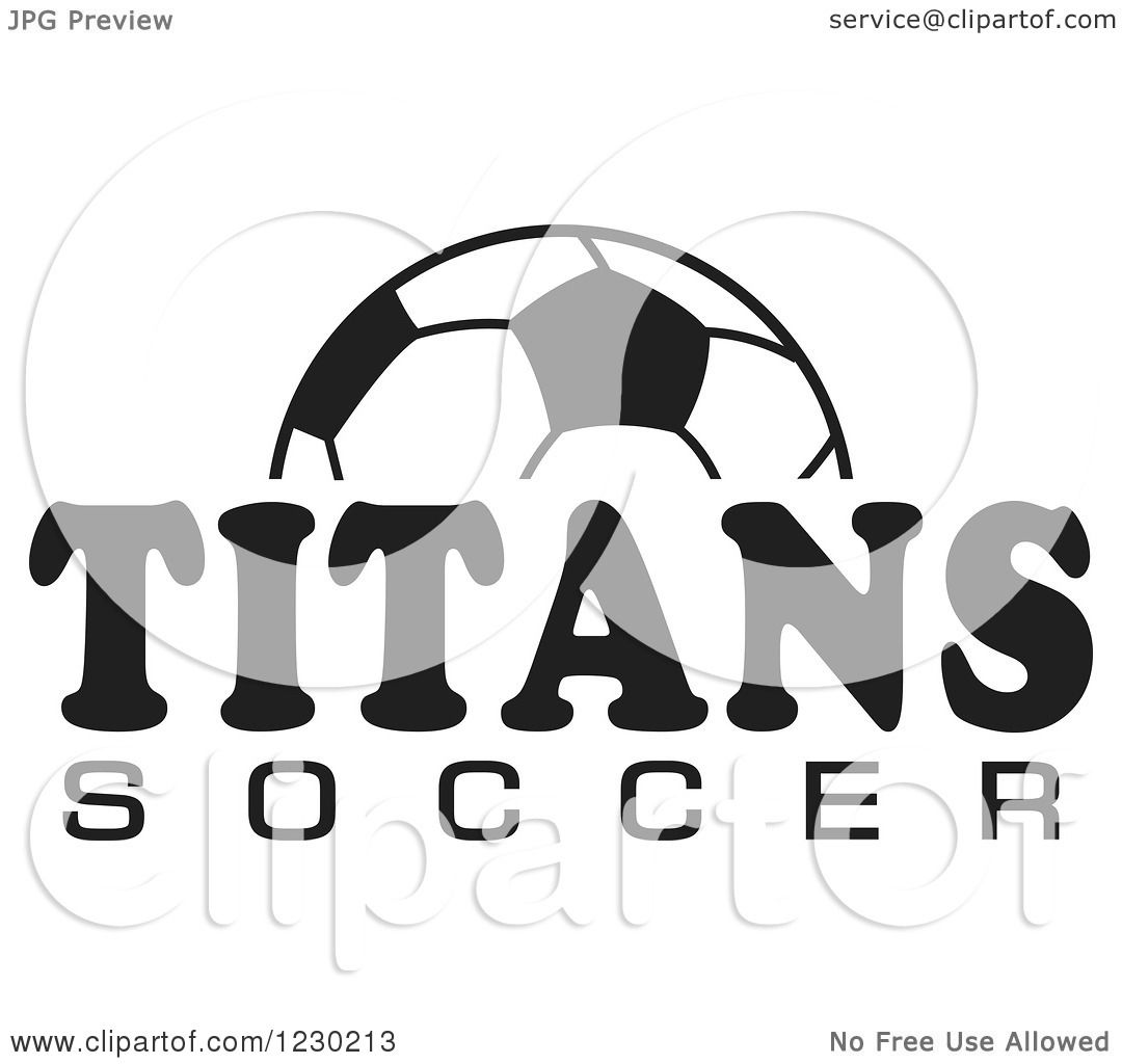 Clipart Of A Black And White Ball And Titans Soccer Team