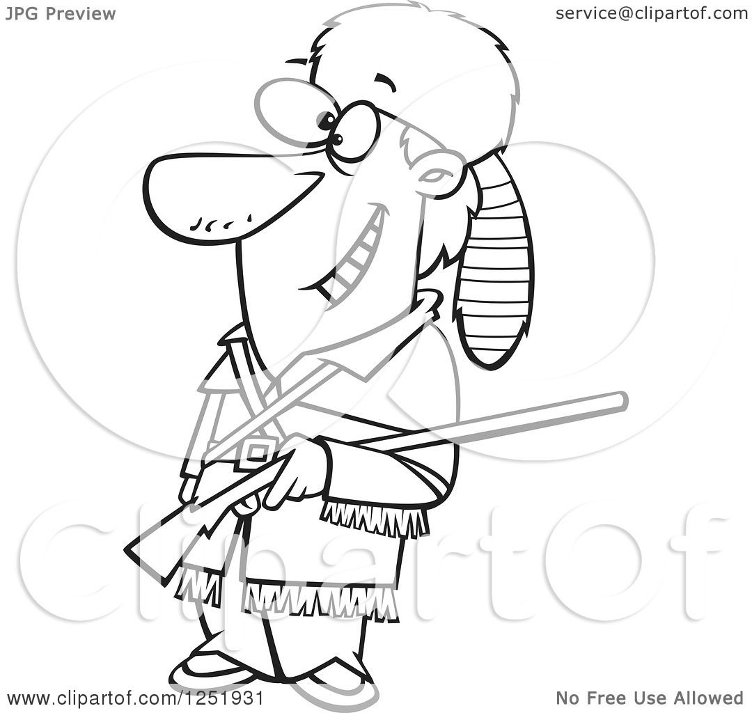 Davy Crockett Coloring Pages Coloring Pages