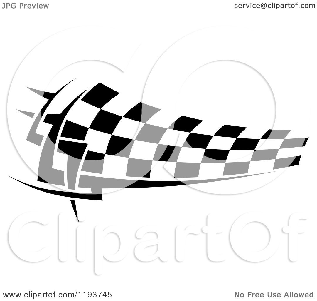 Clipart Of A Black And White Checkered Racing Flag